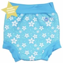 Kojenecké plavky SplashAbout Happy Nappy - modré květy 4824d4895f