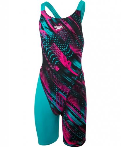 Závodní plavky - kombinéza Speedo Fastskin Openback Kneeskin fialová c19e80dd21