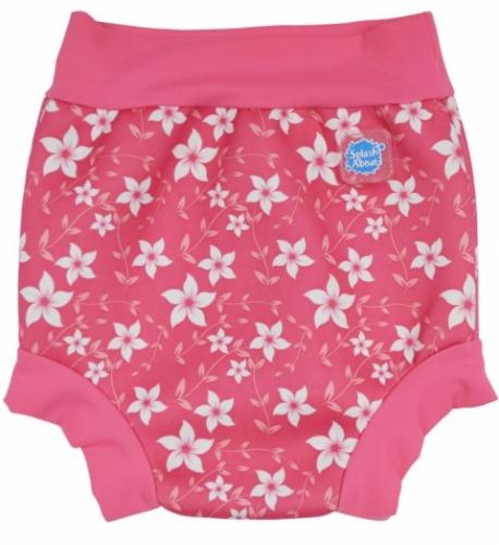 Kojenecké plavky SplashAbout Happy Nappy růžové květy 5a1148fceb
