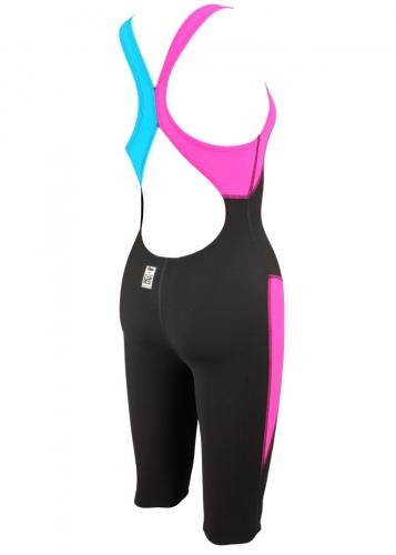 Závodní plavky - kombinéza Aquafeel Neck to Knee dívčí trojbarevné d89ad165f5