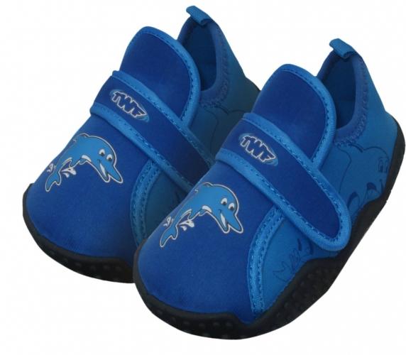 7e0f1556e71 Dětské neoprenové boty do vody TWF Baby modré